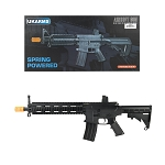 P2215 M4 Quad Monolithic RIS Spring Airsoft Rifle FPS 200 With .20G BBs