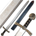 King Richard the Lionheart Sword Lion Crested Medieval Ceremonial