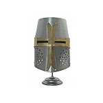 Decorative Crusader Helmet With Stand Medieval Armor