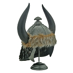 Barbarians Horned Helmet With Stand