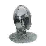 Medieval Norman Helmet with Aventail and Stand