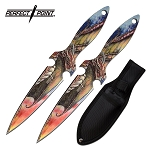 2-PC Throwing Knife Set | Perfect Point 2-Piece Dragon Game Kunai Thrones