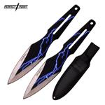 2 Piece 9 Inch Throwing Knife Set Lightning Thunder Bolt Throwers