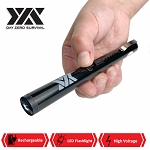 DZS Small Pen Sized 6 Inches Rechargeable Stun Gun Black