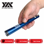 DZS Small Pen Sized 6 Inches Rechargeable Stun Gun Blue