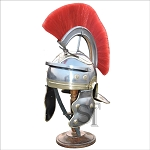 Imperial Itallic Roman Officer Helmet with Liner & Detachable Plume With Stand