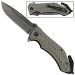 Emergency Tactical Smoke Signal Assisted Outdoor Camping Military Knife