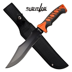 Orange Handle Jungle Fixed Blade Survival Knife