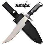 Survival Bowie Knife 14.5 Inch Fixed Blade Knife Black Pakkawood