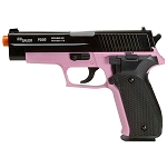 Sig Sauer Licensed P226 Spring Powered Airsoft Pistol Black/Pink FPS-328