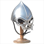 Medieval Armor Skull Helmet With Stand