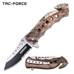 Spring Assist - 'Legal Automatic' Knife - Brown Camo Handle