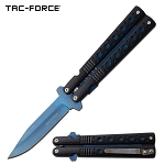 7.5 Inch TiNite Coated Blade Spring Assisted Folding Knife Faux Butterfly