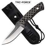 Tactical Combat Knife Fixed Blade Full Tang Tan G10 Handle With Sheath