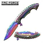Rainbow Titanium Mermaid Rescue Survival Assisted Opening Knife