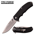 Black G10 Handle Tactical Blade Spring Assist Folding Pocket Knife