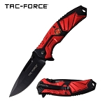 Fire Fighter Assisted Opening Folding Pocket Knife Red FD Logo