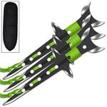 Waning Moon 3 Piece Stainless Steel Aerodynamic Throwing Target Knife Set