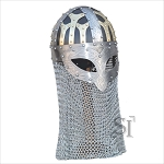 Highly Detailed Norse Warrior Helmet with Aventail