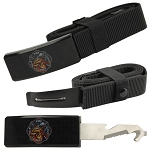 Fire Dept. Adjustable Nylon Covert Belt Knife Self Defense Hidden Blade