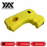 DZS Yellow Hand Pistol Stun Gun With LED Light Rechargeable