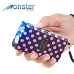 25 Million Volt Rechargeable Stun Gun W/ LED Light & Disable Pin Purple/Black