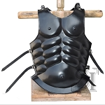 Medieval Roman Greek Muscle Body Armor Black