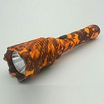 Special Force Tactical Metal Stun Gun Orange Camo Rechargeable LED Flashlight