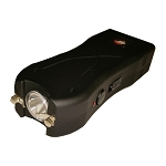 Black Max Power Rechargeable Stun Gun Built in LED Light With Safety Pin