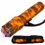 Tactical Elite Force Metal Stun Gun Rechargeable LED Flashlight Orange Camo