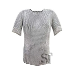 Butted Chainmail Replica Armor Long Shirt Haubergeon Size 4XL
