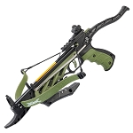 80lb Self Cocking Pistol CrossBow With Forearm Grip Olive
