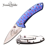 Assisted Opening BLUE DIAMOND Ladies Purse Pocket Knife