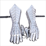 Medieval Knight Gothic Gauntlets Gloves 18G Steel