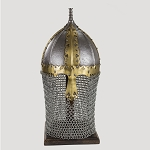 Russian Boyar Battle Helmet 14 Guage With Stand