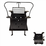 Iron Manual Black Hand Forged Barbecue Charcoal Grill