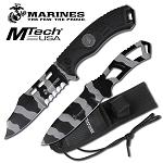 Urban Camo USMC Marines Grunt Fixed Blade Knife Thrower Set