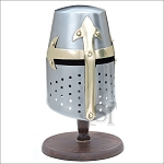 Mini Medieval Tournament Knight Helmet With Display Stand