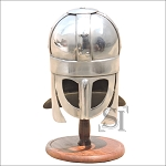 Sutton Hoo Viking Miniature Helmet With Stand
