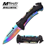 MTech Rainbow Blade Hunting Camping Tactical Rescue Pocket Knife