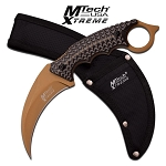 MTech Xtreme Fixed Blade Hunting Karambit Style Handle Knife Matte Green