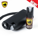 Black Olympian World's Only All-In-One Stun Gun - Pepper Spray - Flashlight