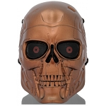 Terminator Full Face Airsoft Mesh Mask - Red Bronze