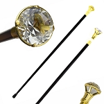 37 Inches Decorative Crystal Knob Top Gentleman's Walking Stick