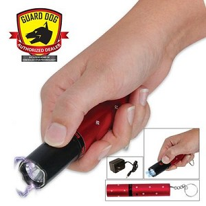 Electra Concealed Red Lipstick Stun Gun 3 Million Volt with 100-Lumen Flashlight