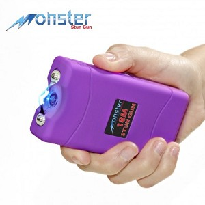 Purple Monster 18 Million Volt Rechargeable Stun Gun - LED Light