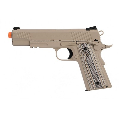 Colt M45A1 Full Metal Rail Gun 1911 CO2 Blowback Airsoft Pistol Desert Sand