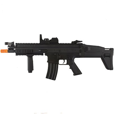 FN Herstal FN-SCAR-L MK16 Full Auto Electric AEG Airsoft Rifle Gun With Scope
