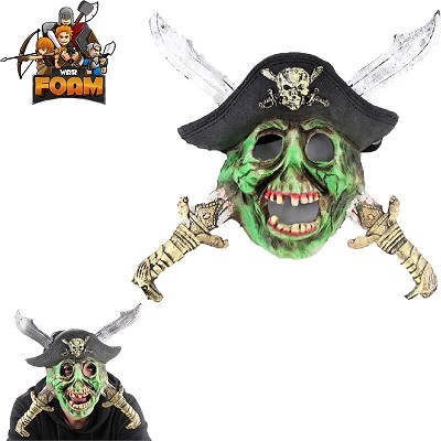 Zombie Skull Pirate Crossed Swords Hat Mask For Cosplay Halloween Masquerade