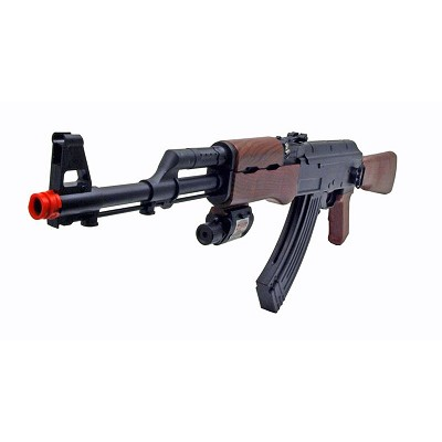AK47 Spring Action Airsoft Tactical Rifle Gun with Laser Site